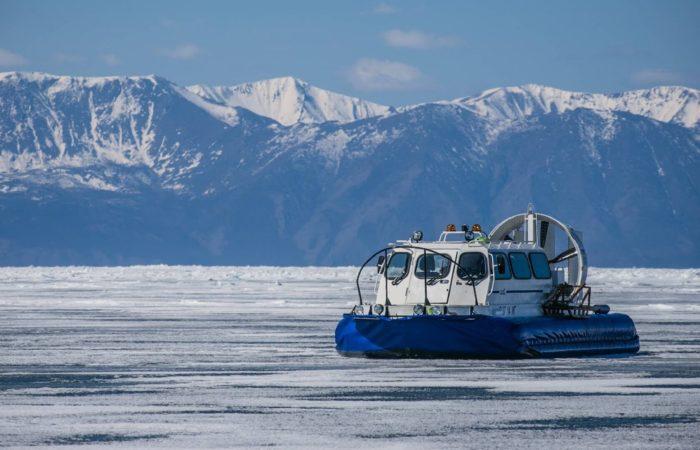 Hivus on the frozen ice of Baikal