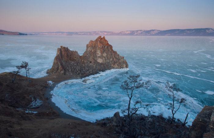 Olkhon island shaman stone