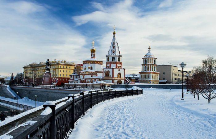 November Irkutsk tour landscape church