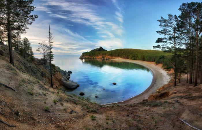 Babushka bay coast summer baikal tour