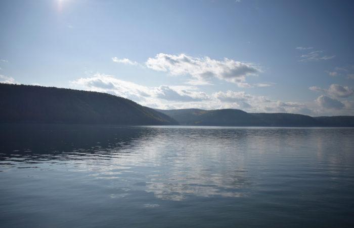 Summer Talci Listvyanka Baikal clouds