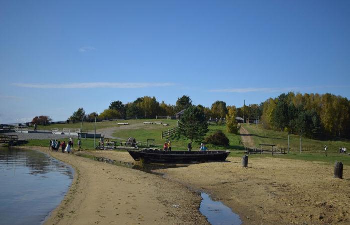 Summer Talci Boat on the shore