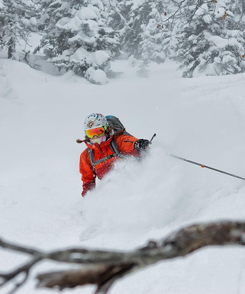 skiing in the snow Irkutsk