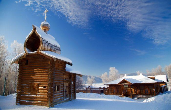 Listvyanka Talci Old wooden church